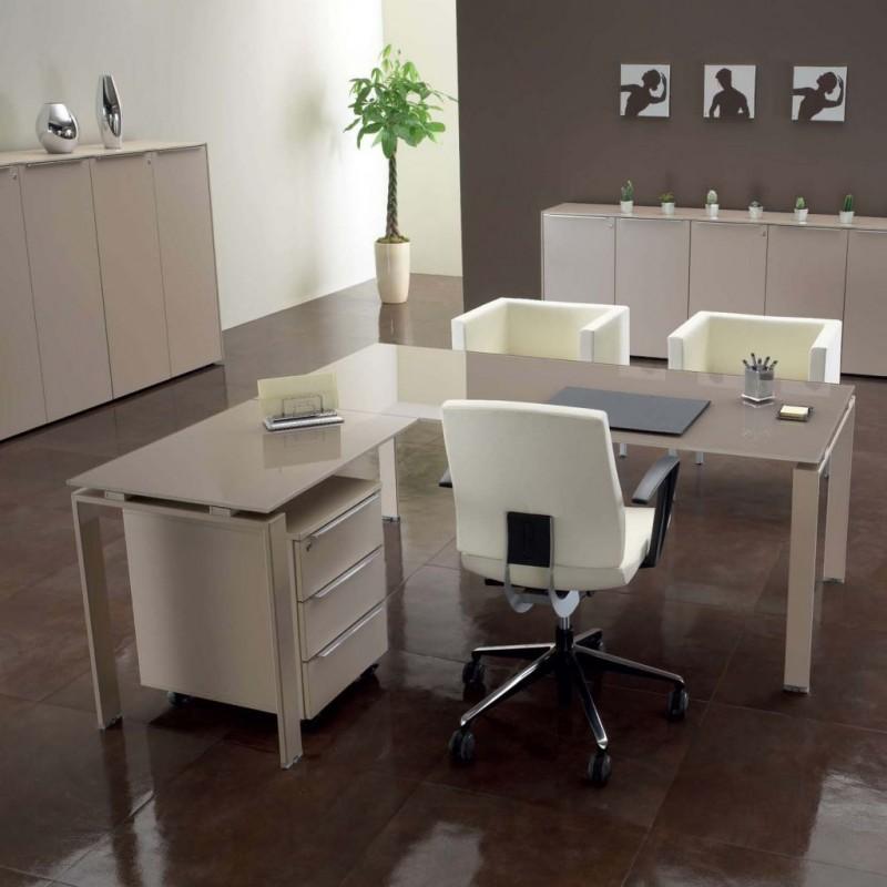 scrivania da ufficio in vetro us