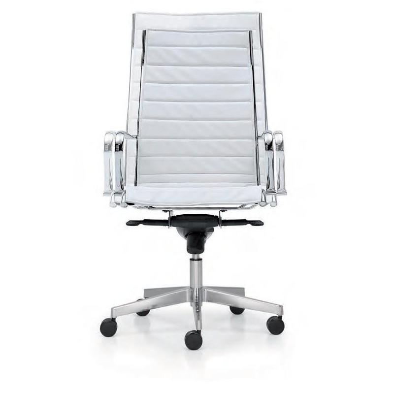 Poltrona direzionale da ufficio con struttura in alluminio for Poltrone ufficio direzionali