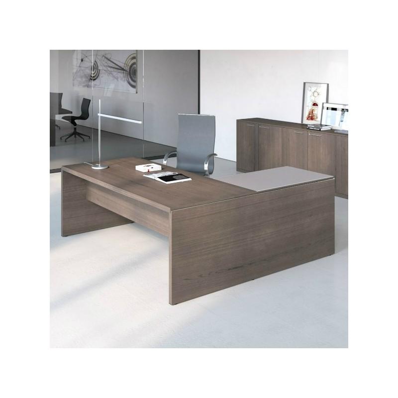Asset scrivania direzionale in legno for Mobile ufficio basso