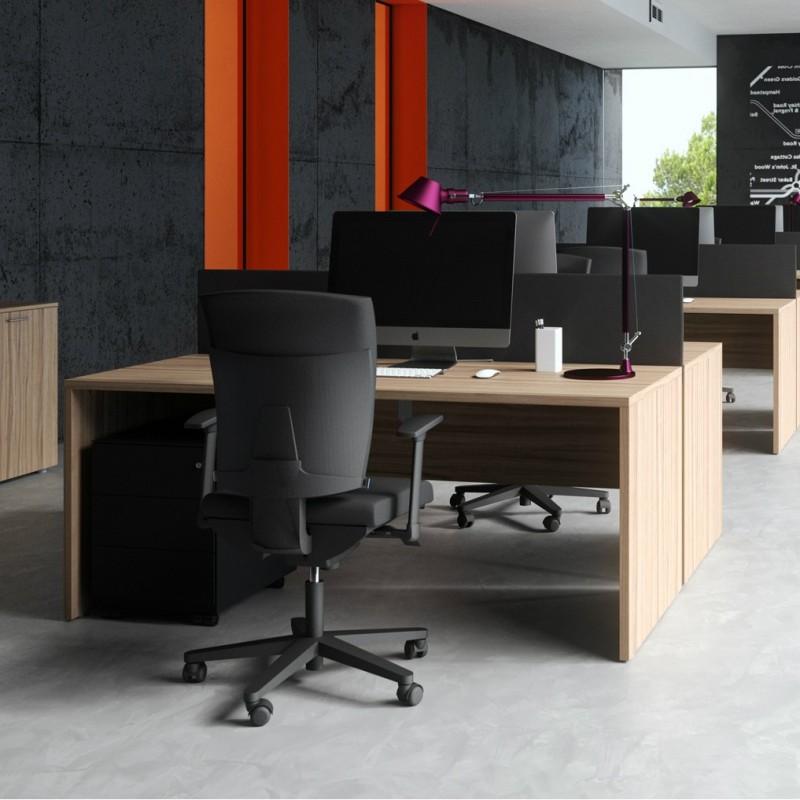 Scrivania in legno operativa - Scrivanie legno design ...