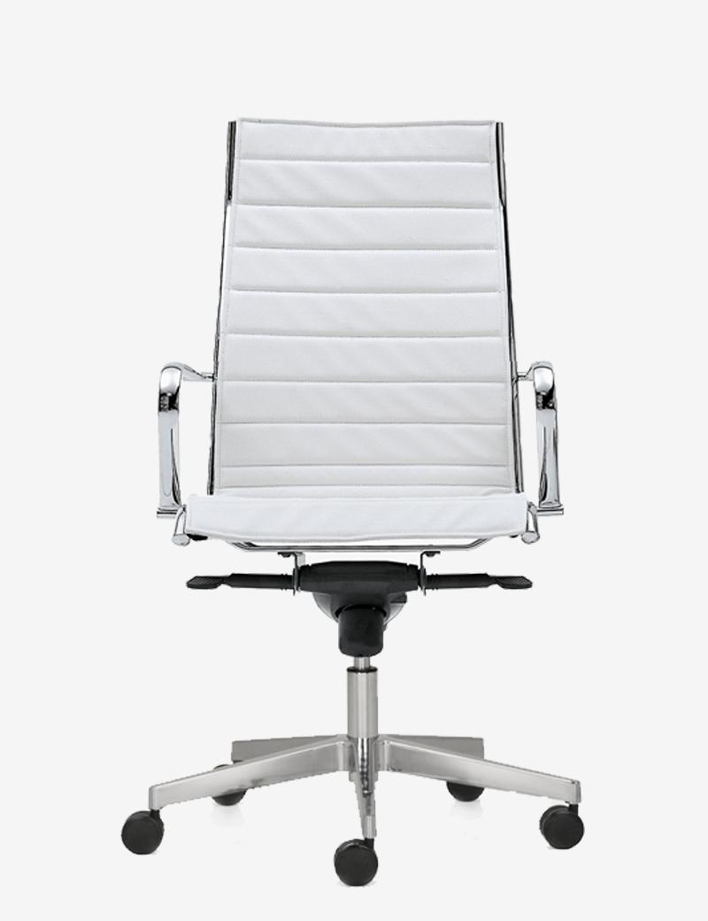 Poltrona direzionale da ufficio con struttura in alluminio for Sedute da ufficio