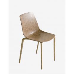 ALHAMBRA ECO WOOD - 4 sedie in legno e materiale plastico di Gaber