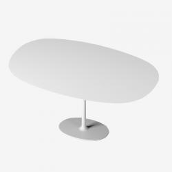 DIZZIE - tavolo con base ovale di Arper