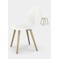 SE:SPOT WOOD sedia con gambe in legno di Sedus