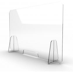 Schermo plexiglass antibatterico 70x50