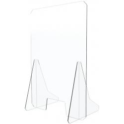 Schermo plexiglass antibatterico 65x95