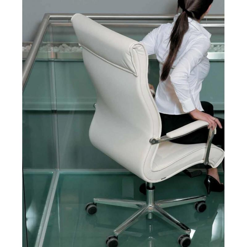 Poltrona direzionale con schienale alto emmegi raffinata for Cassettiera ufficio economica