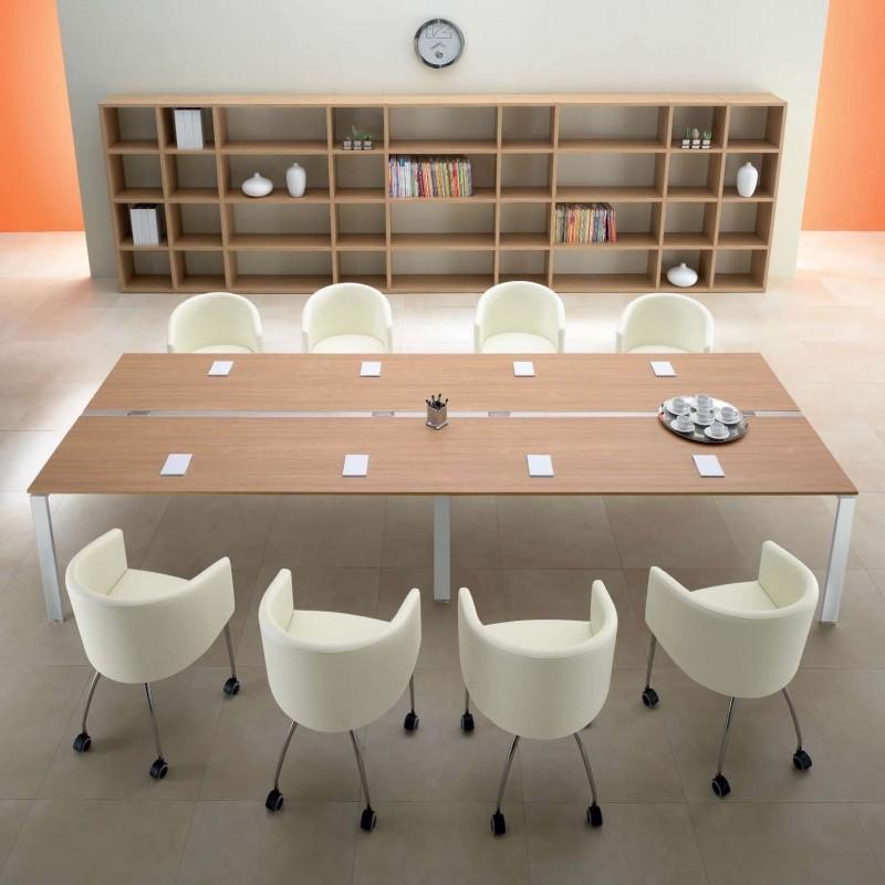 Us tavolo riunione per ufficio con piano melaminico - Tavoli per ufficio ...